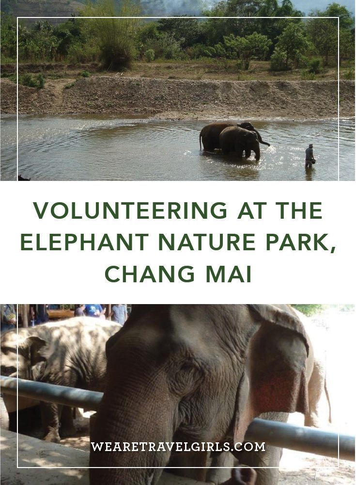 "VOLUNTEERING AT THE ELEPHANT NATURE PARK, CHANG MAI When I was 30, I decided to quit my job to explore the world for 6 months. Whilst I was excited to travel I was also looking for some volunteer activities to make my trip more meaningful. One of my friends had introduced me to the Elephant Nature Park and after browsing their website, my instinct said ""Go!"" so I did! By We Are Travel Girls Contributor Sanae Tanaka"