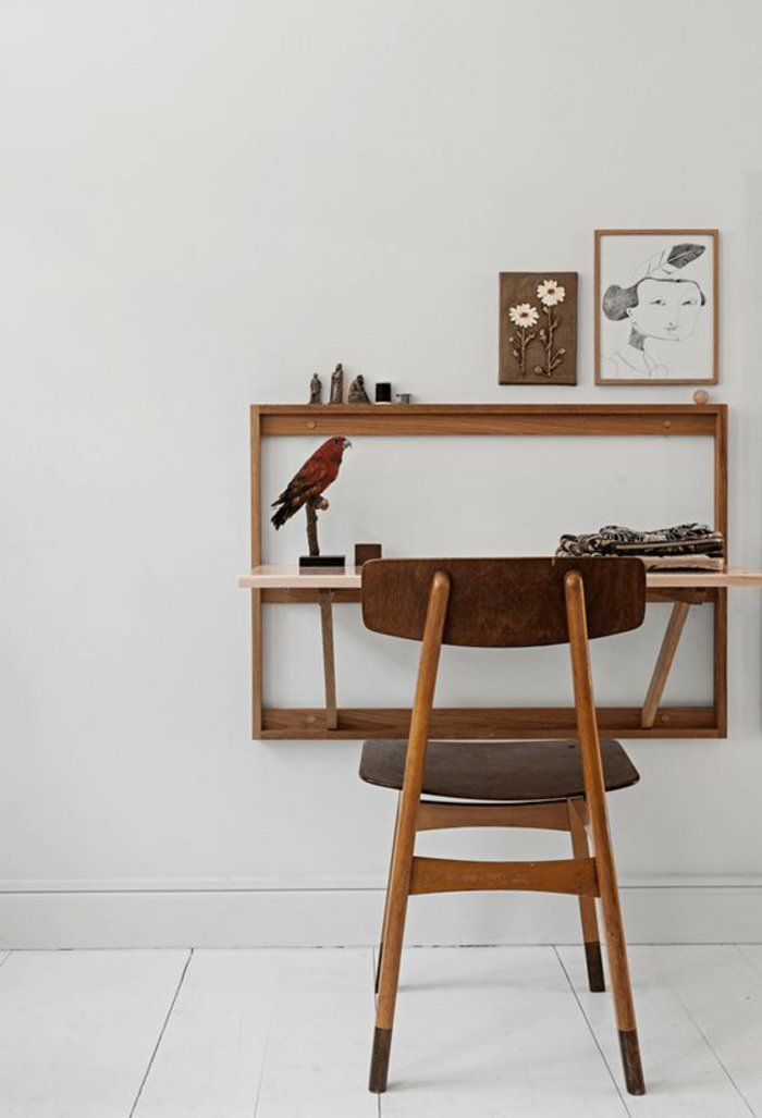 Rustikaler Schreibtisch Aus Holz Home Office - Design