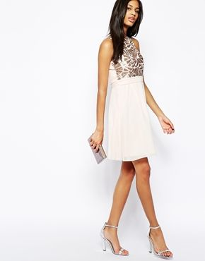 Ingrandisci Little Mistress - Prom dress stile babydoll con paillettes