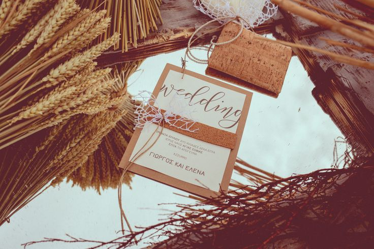 Rustic weddings decorations. Handmade invitation and bomboniere. design by Bouquet