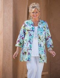Kasbah multi linen pastel floral top and trouser at Box 2