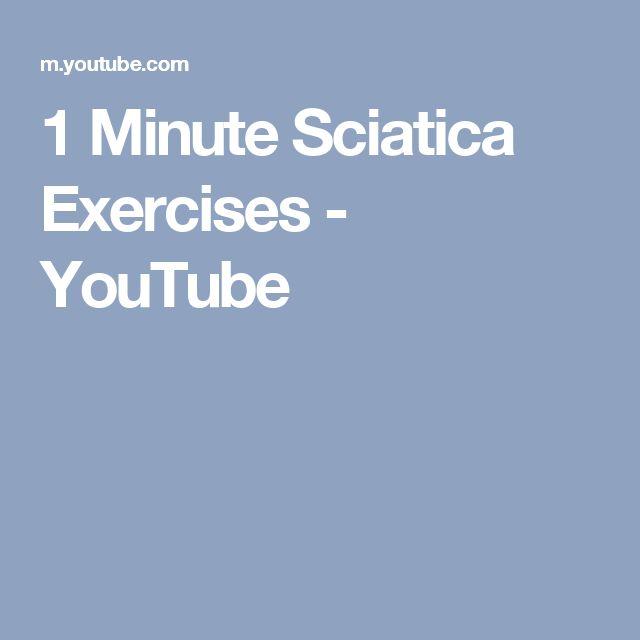 1 Minute Sciatica Exercises - YouTube