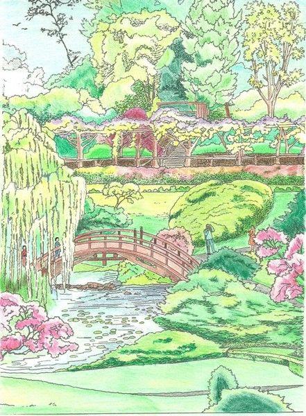 17 meilleures images propos de tableaux sur pinterest for Jardin japonais dessin