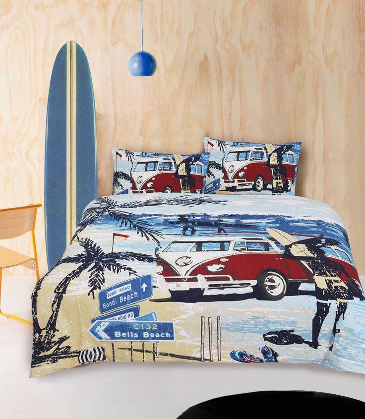Summer Combi - Retro Home - Quilt Cover Set - Love Mum
