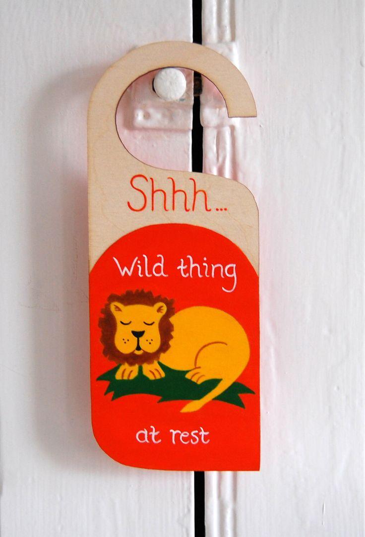 Lion door sign, Safari nursery door hanger, Jungle nursery decor, Lion Nursery Art, Zoo nursery sign, kids animal art  - orange, yellow by LittleTrunkArt on Etsy https://www.etsy.com/uk/listing/191600084/lion-door-sign-safari-nursery-door
