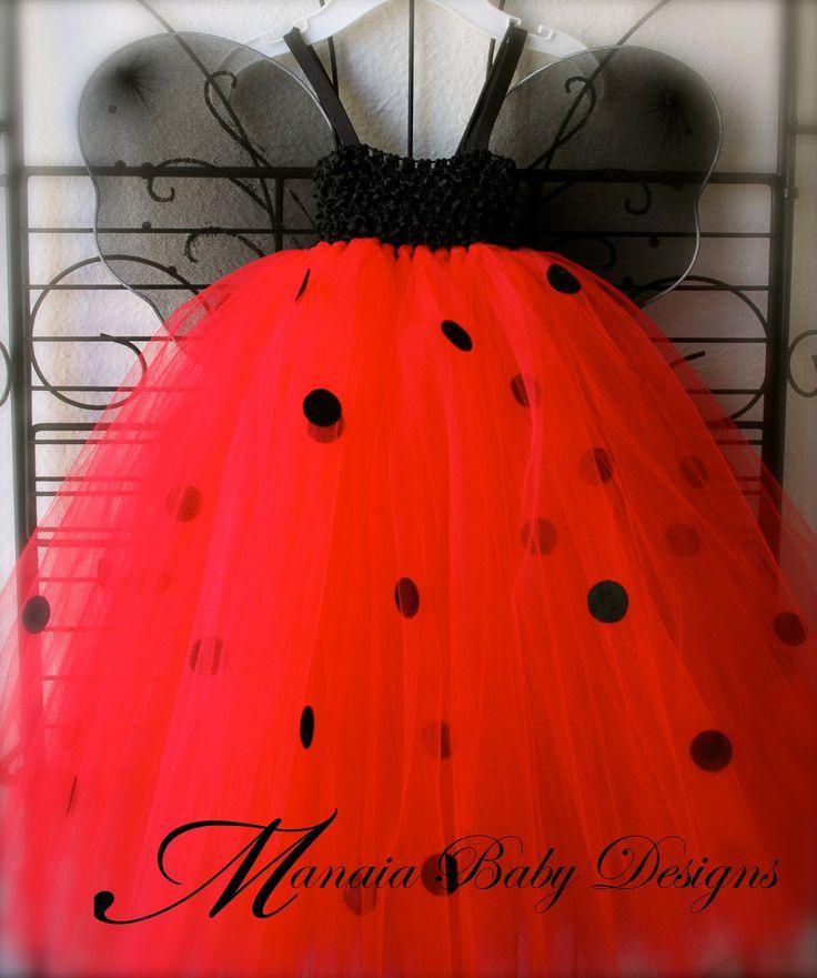 Ladybug Tutu Dress / LadyBug Costume. $34.00, via Etsy.