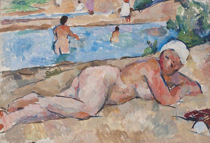 Pyotr Konchalovsky - Woman on a River Bank 1922