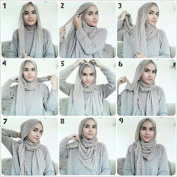 Hijab tutorial by @zahratuljannah. Thankyou teh zahra, Keep inspiring ya :) . . Hijab style ini bisa kamu pakai saat mau pergi/jalan2 dan cocok banget untuk kamu pngn tetap stylish tapi simple :) Mat : pashmina cerruti motif/ pashmina kaos + daleman ninja