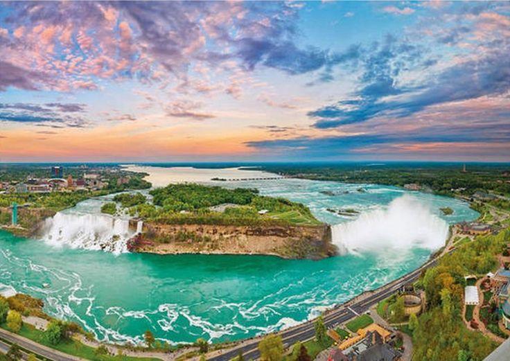 Puzzle DINO 1000 dílků - Niagárské vodopády