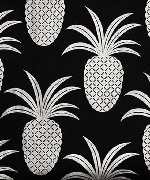 Black Amp White Pineapple Fabric Print Pineapple Princess