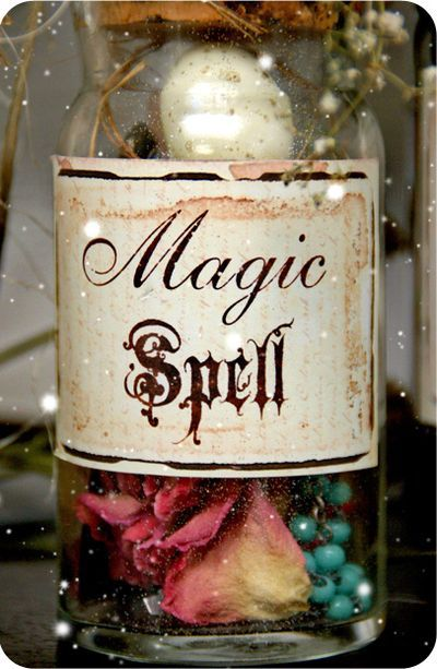 Magic Spell: fill with sparkles, maybe a key and a spooky old tin type photo.  A few vintage beads will work too.  Oh, and of course, flower petals to bind your spell ;)      Poison:  a tablespoon of soy sauce, water and some sprigs of rosemary.