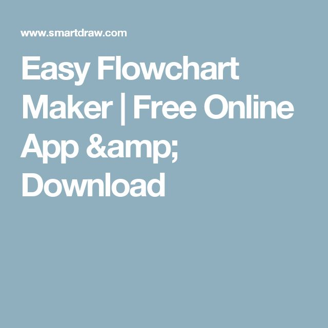 Easy Flowchart Maker | Free Online App & Download