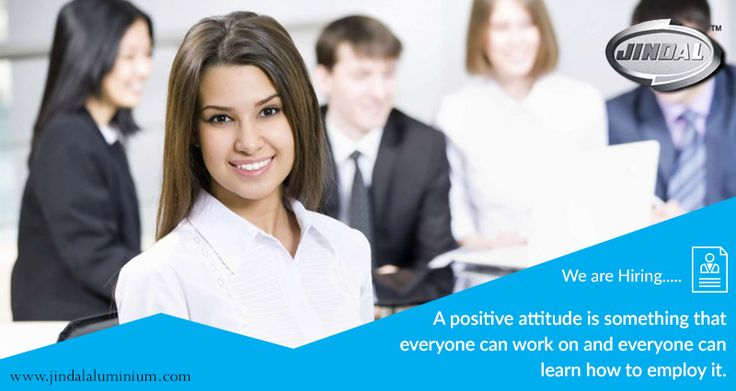 A positive attitude is something that everyone can work on and everyone can learn how to employ it. We believe in putting our best foot forward and subscribe to this idea and this is why our workforce is one big happy family. Join us and explore exciting career opportunities http://www.jindalaluminium.com/jindal-hr-homepage.php #JALCareers