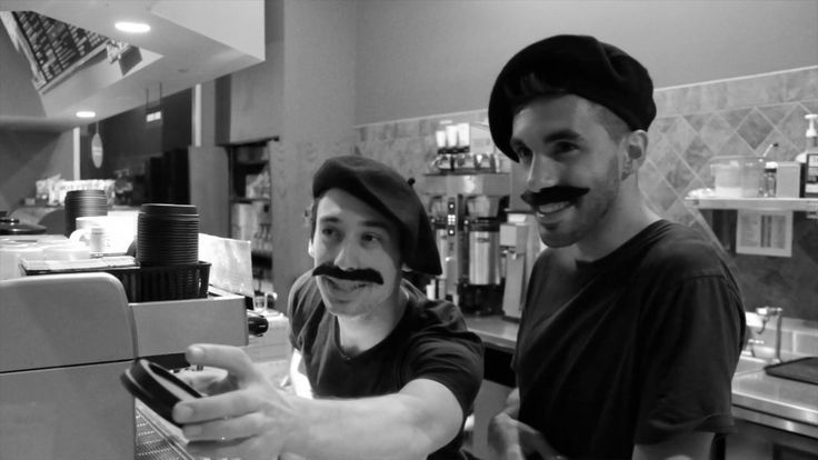 The Dunn Bros Woodbury Baristas don Berets #humorvideo #promovideo