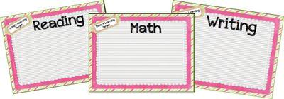 Classroom Freebies Too: Learning targets and data folders!
