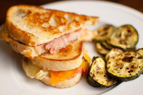 monte cristo with grilled zucchini more peaches brie brie panini brie ...