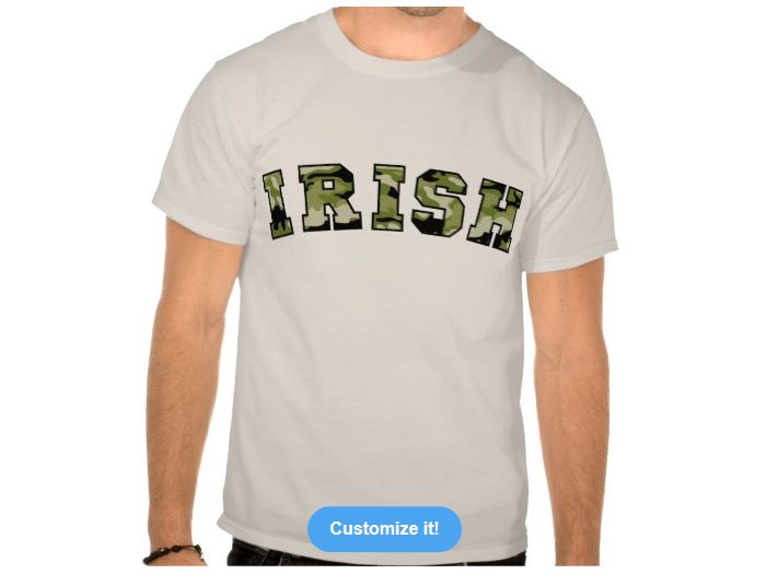 Irish Forest Camo, Style is Basic T-Shirt, color is Sand