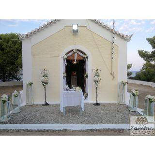 Διακόσμηση Γάμου με φανάρια στην Αγία Μαρίνα Σπετσών