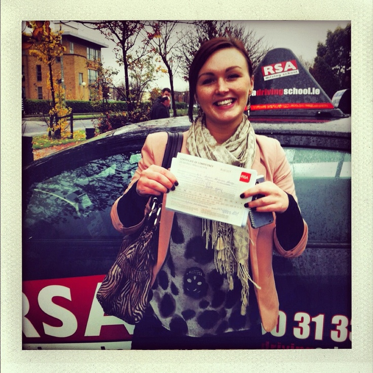 Well Done Sarah! She passed her driving test in Rathgar, Dublin; after completing her EDT driving lessons with the RSA Driving School. http://www.rsadrivingschool.ie