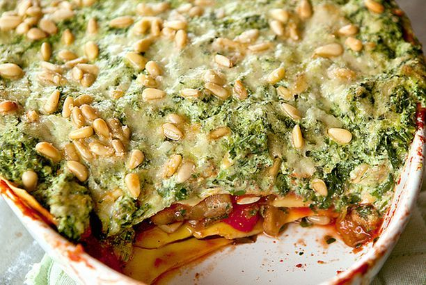Een lichtjes geniale lasagna met 5 groenten