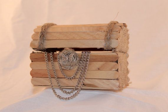 Rustic Wedding Favors - Rustic Chest- Popsicle stick chest- Perfect Wedding Favors/ Cheap Wedding Favors/ Box