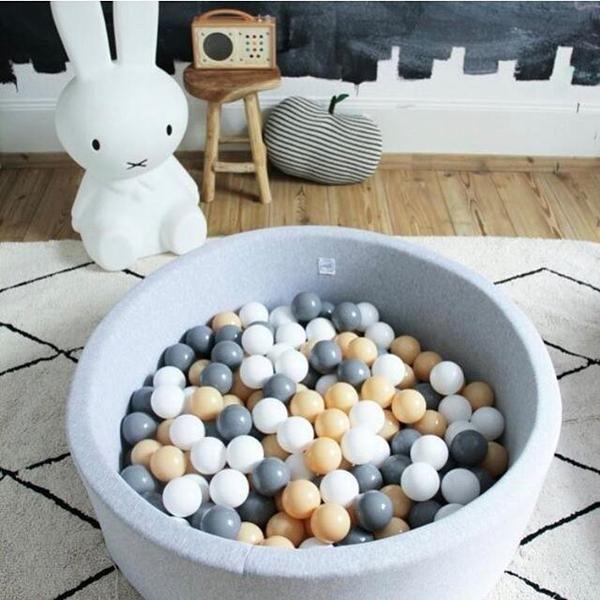 Children's Modern Soft Cushion Ball Pit (Grey, Mint, Black)