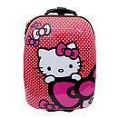 """Hello Kitty fans will love our Hello Kitty Suitcase - Pink! Measurements 17""""H x 8"""" D x 12.50"""" W. The Hello Kitty Suitcase - Pink features: Hard Outer Shell In line - Skate Wheels Internal storage Telescopic handle w/ push button technology Comfy ergonomic handle Metal zipper pulls for durability Durable carry handle Fashion Hello Kitty Prints Hello Kitty is a cheerful and happy girl with a heart of gold. Kitty can bake delicious cookies, but she loves Mama's apple pie even more. Her best ..."""