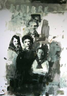 "Saatchi Art Artist Espen Erichsen; Painting, ""Sketchbook page (The Anniversary)"" #art"