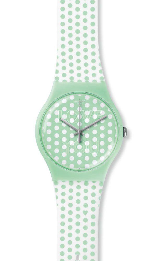 Reloj Swatch mujer Mint love SUOG108