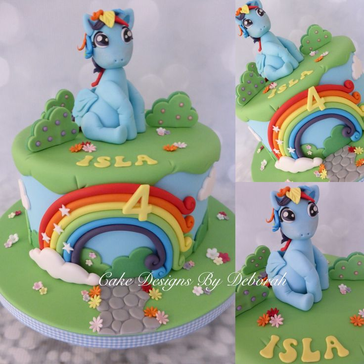 1000 images about birthday cakes and more on pinterest for Rainbow dash cake template