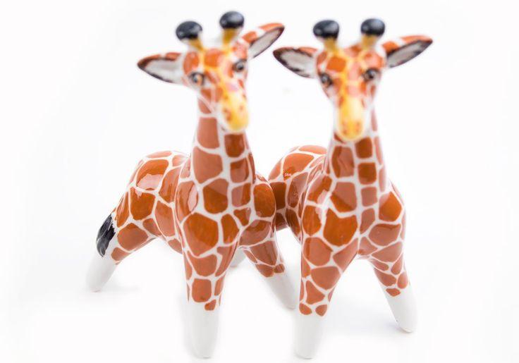 Cute Giraffe Salt & Pepper Shakers... Handmade Too.