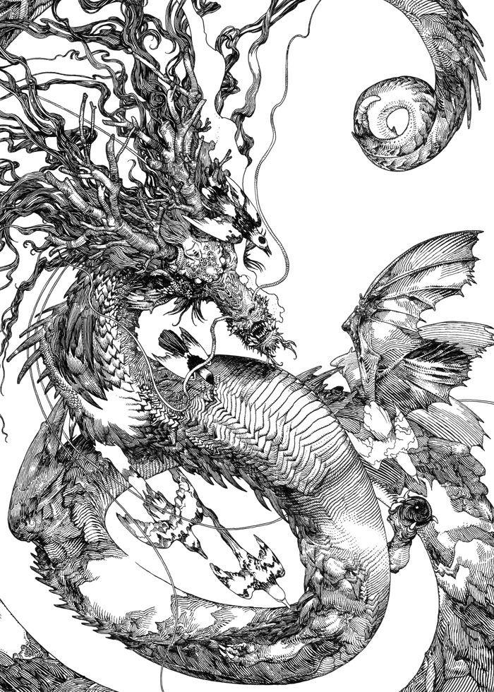 Katsuya Terada - Black Marker Drawing   Katsuya Terada   Pinterest   Videos Most Beautiful And ...