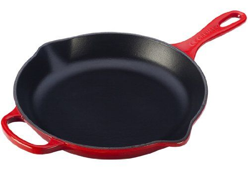 Le Creuset Signature Iron Handle Skillet, 11-3/4-Inch, Cerise (Cherry Red)