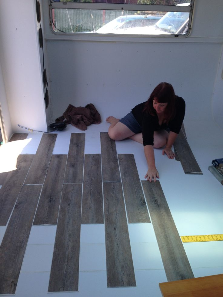 laying new floor, caravan renovating                                                                                                                                                                                 More