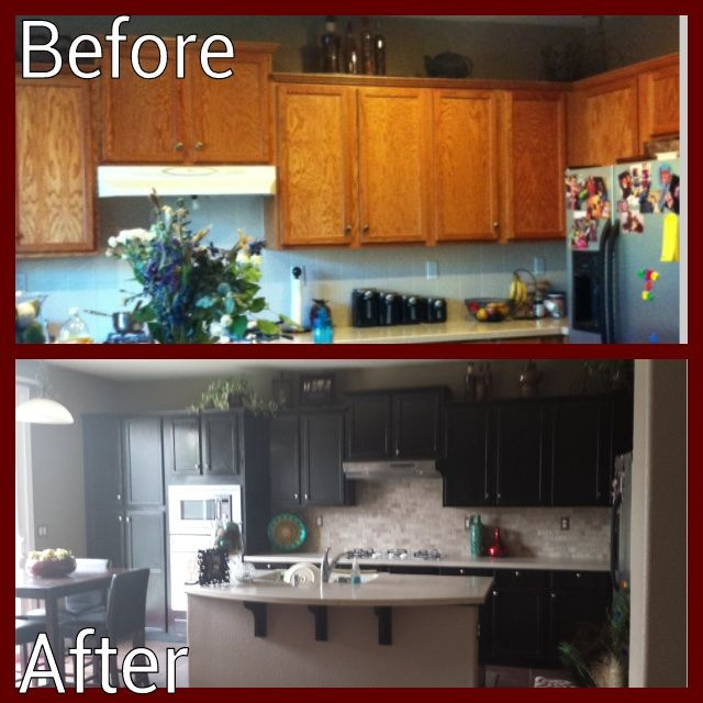 Diy Kitchen Revamp My Husband And I Did This All By