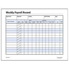 Image result for WEEKLY EMPLOYEE PAYROLL FORM