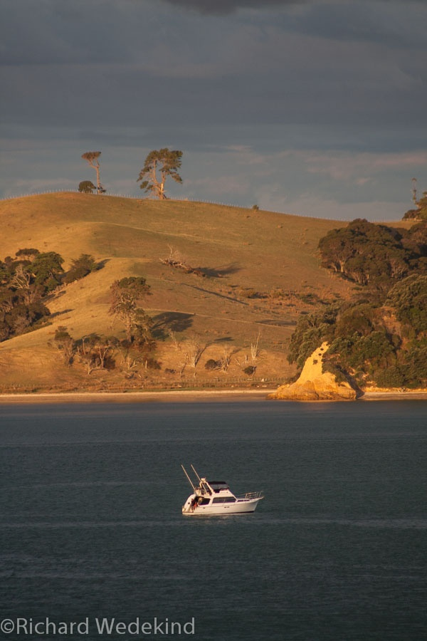 Last of the summer wine - dusk in the Waiheke Channel.