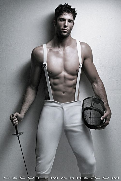 fencing  *Much better..I've heard that ALL male fencers look like this...
