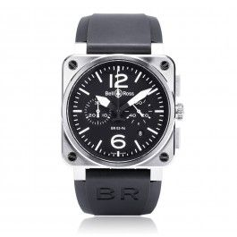 AVIATION BR 03 42MM - BR0394-BL-ST