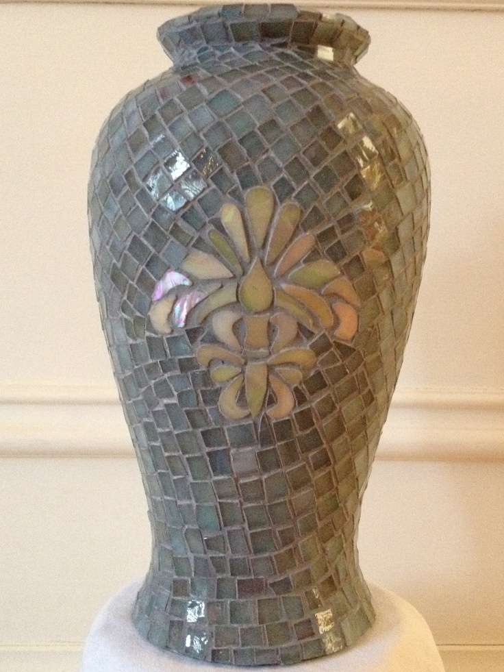 Recycle old vases. Mosaic over.