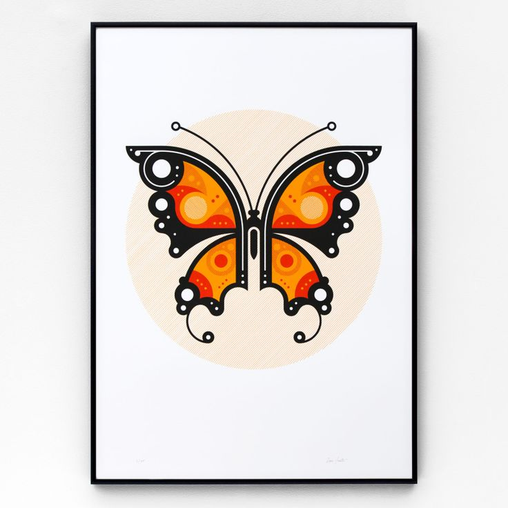 Butterfly #1 is a limited edition, hand-pulled screen print in three colours on 270gsm Colorplan Bright White. Each print is signed and numbered in an edition of 125, and supplied unframed.
