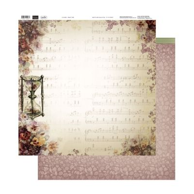 """Couture Creations 12""""x12"""" D/S Paper Hearts Ease ~ Pansy Tune 