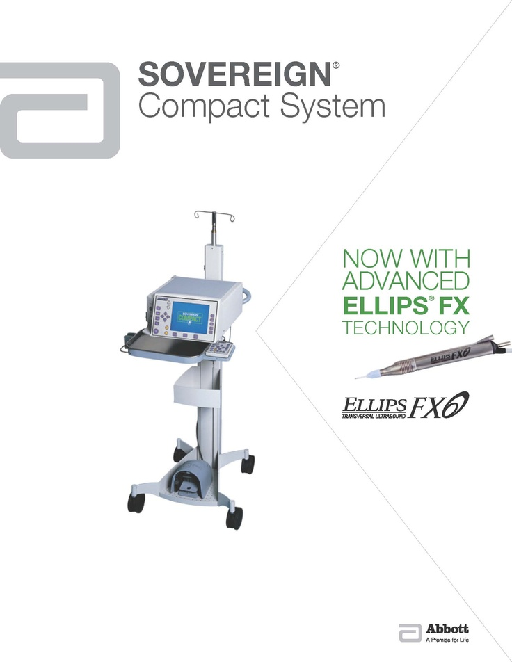 AMO Sovereign Compact System: Now with  Advanced ELLIPS FX Technology. http://www.amo-inc.com/products/cataract/phacoemulsification-systems/sovereign-compact-phacoemulsification-system