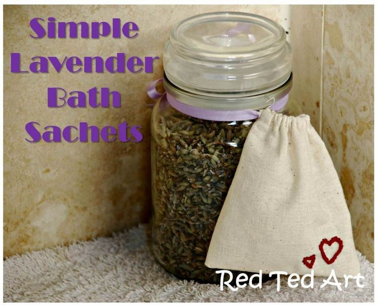 Simple Lavender Bathes. Easy to make. A great little gift.