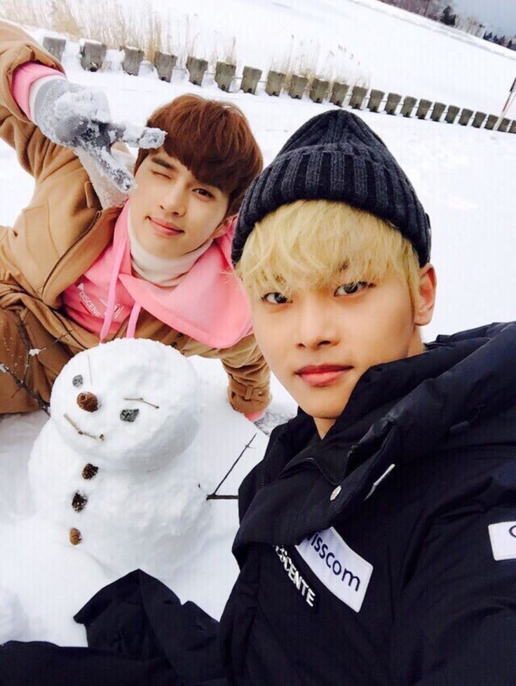 Ken and N ft. snowman