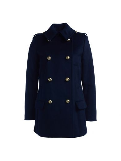 MICHAEL KORS Cappotto Michael Kors Alla Marinara In Lana Blu Navy. #michaelkors #cloth #coats-jackets