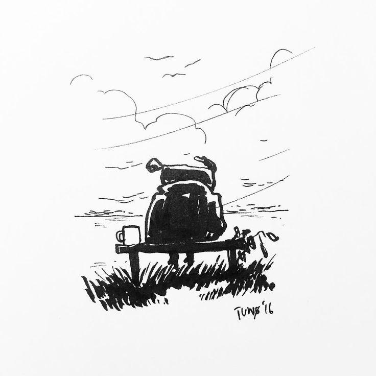 Autumn  by Jon Skraentskov Ink on paper 2016 #illustration #autumn