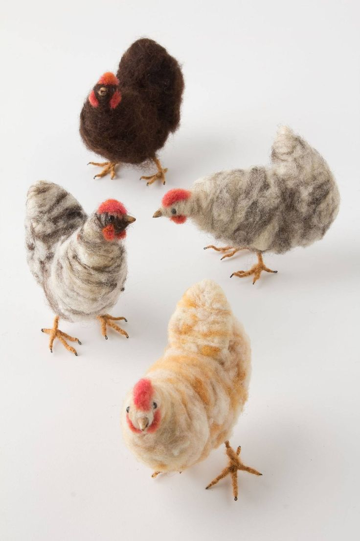 Felted Chickens - anthropologie.com