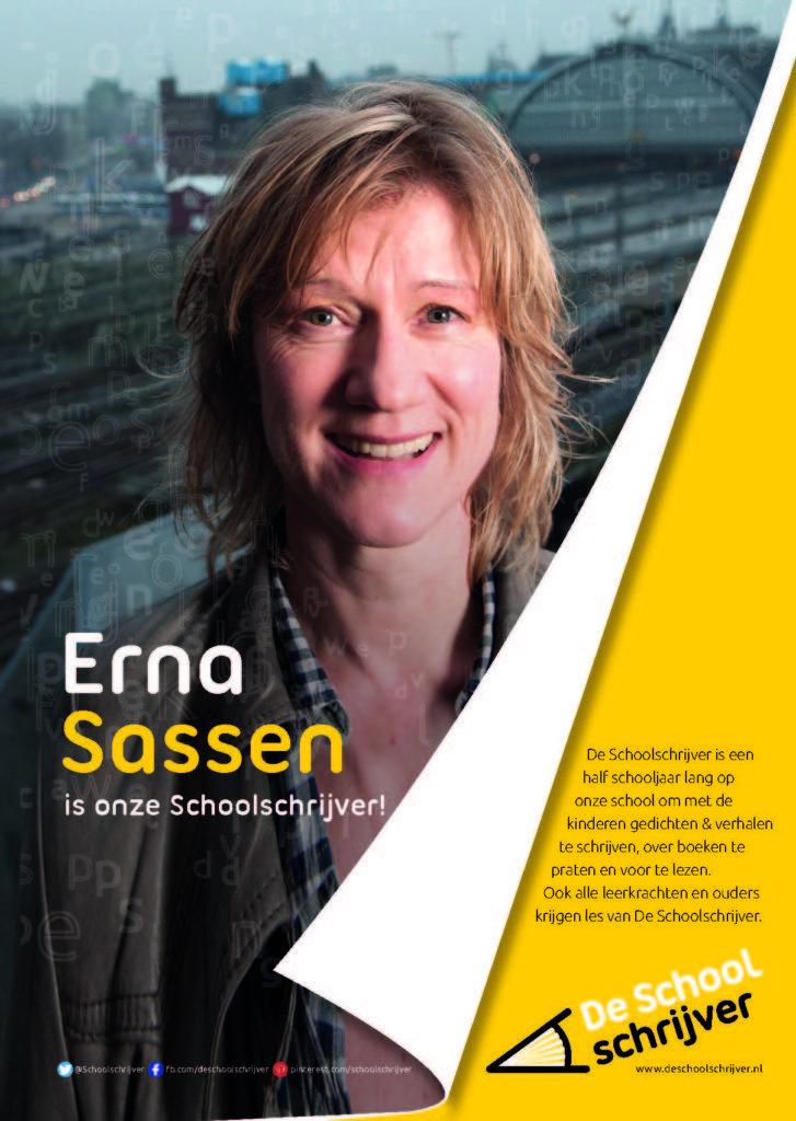 """Erna Sassen: """"Wat maakt een boek de moeite waard? Dat wil ik graag samen met de kinderen onderzoeken, onder andere door stukjes voor te (laten) lezen uit grappige, spannende, treurige of informatieve boeken. Daarnaast wil ik hen laten vertellen en laten schrijven over dingen die zij belangrijk vinden."""""""