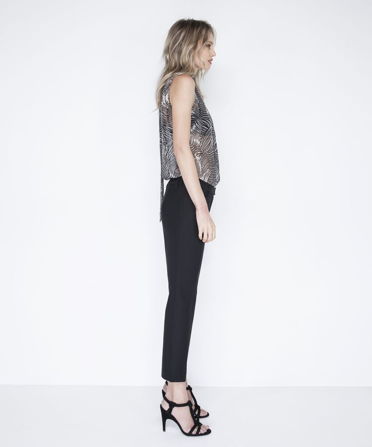 Brittany Blouse - Black, Ines Cropped Trouser - Black